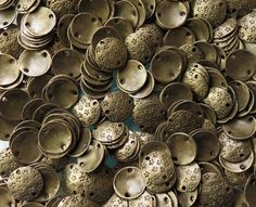 10mm 2mm holes Antique Brass Base Metal Stamped by beadsandbabble, $1.99