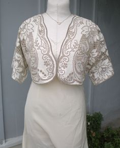Fab upcycled lace tablecloth shrug