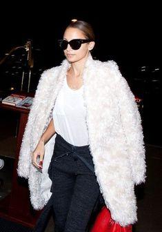 Nicole Ritchie Faux Fur Coat 2017 Street Style