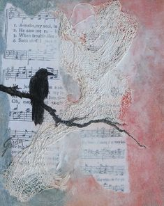 RESERVED Raven Spirit Song, an original painting, mixed media FREE SHIPPING. via Etsy.  I hope you enjoy your visit All rights reserved, Griselda Tello © 2012