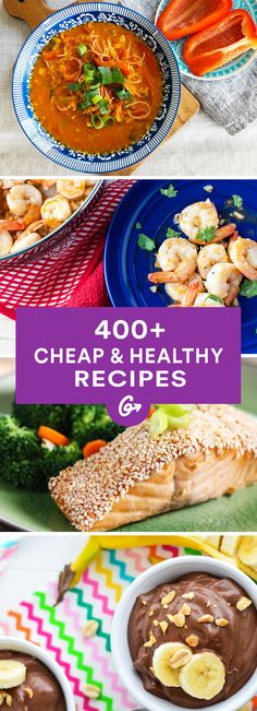 400+ Healthy Recipes (That Won't Break the Bank) #cheap #healthy #recipes http://greatist.com/health/cheap-healthy-recipe-collection