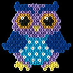 Owl perler beads by snm165