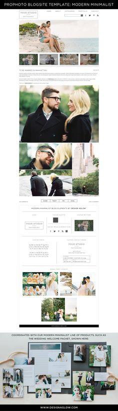 ProPhoto Blogsite templates for photographers #designaglow