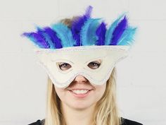 DIY-Anleitung: Venezianische Maske mit Federn nähen via DaWanda.com