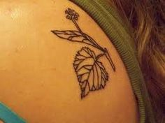 linden tree leaf tattoo, meaning: monogamy, marriage, and love http://inkspire.awwomg.com/tattoodesigns/linden-tree-leaf-tattoo-meaning-monogamy-marriage-and-love/