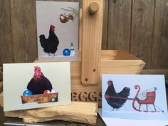 New Betty Bantam Christmas Cards Available from my website, boxed or individually