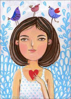 your heart is so precious. Julia Grigorieva | illustrations