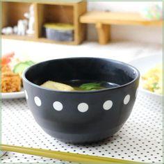 cera-pockke | Rakuten Global Market: Dot black plenty of Bowl 15 cm 4 pattern 4 size than please! Bowl Bowl dish deep Bowl ball noodles 02P09Jan16