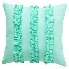 Room redo! Ruffle Pillow - Turquoise $16.99