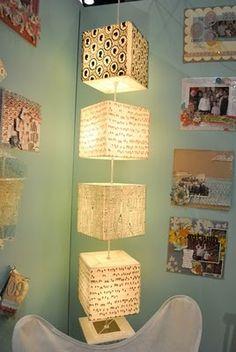washi tape lamp #lighting #washi #washitape