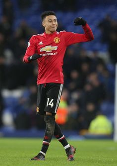 Jesse Lingard Photos - Jesse Lingard of Manchester United celebrates after the Premier League match between Everton and Manchester United at Goodison Park on January 2018 in Liverpool, England. - Everton v Manchester United - Premier League Manchester United Premier League, Official Manchester United Website, Manchester United Football, Man Utd Fc, Paris Saint Germain Fc, Spanish Men, Jesse Lingard, English Men, Tottenham Hotspur Fc