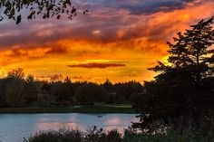 Beautiful Sunset at the Overland Park Arboretum & Botanical Gardens.