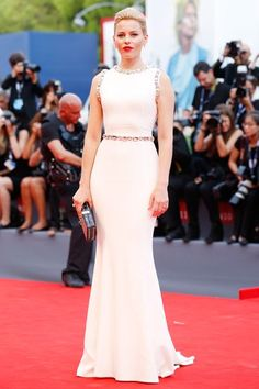 See the Incredibly Ornate Dresses of the Venice Film Festival Red Carpet: (http://www.racked.com/2015/9/8/9276173/venice-film-festival-2015-red-carpet#4827106)