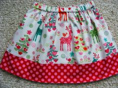 Reindeer  Christmas Skirt  (12 mos, 18 mos,24 mos,  2T, 3T, 4T, 5, 6) on Etsy, $16.95 AUD