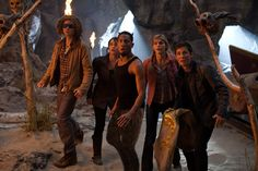 Percy, Tyson, Clarisse, Grover and Annabeth