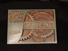 Iron with rust patina on Precision Board. Designed and cut by KDF