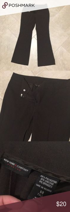 Brown / Black Wide Leg Trouser Kind of a brown / Black color, wide leg Trouser pant. Excellent condition. New York & Company Stretch. Size 14T, 14 tall, 14L, 14 long. New York & Company Pants Wide Leg