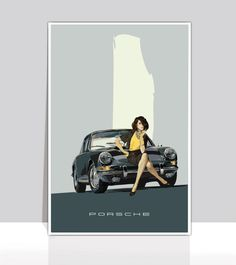 The 8 best vintage porsche posters images on pinterest vintage poised in time 1964 porsche 911 gray coupe g fandeluxe Gallery