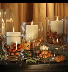 Fall harvest theme candles DIY
