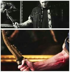 Jensen Ackles as Dean Winchester in Supernatural / Mark of Cain meets the First Blade