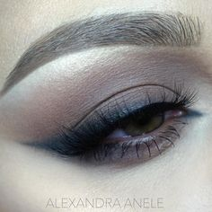 blown-out brown smokey eye w/ smudged arabic liner @alexandra_anele   #winged #eyeliner makeup #neutral