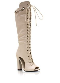 Laced Up Cut-Out Boots $56.20