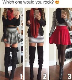 Pinned onto 2018 winter outfits Board in 2018 winter outfits Category Fashion Mode, Cute Fashion, Teen Fashion, Fashion Outfits, Mode Outfits, Skirt Outfits, Trendy Outfits, Fall Winter Outfits, Summer Outfits