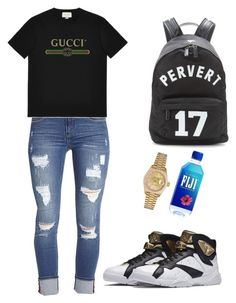 """""""MAXO KREAM-CELL BOOMIN'"""" by shmoneyybihh on Polyvore featuring Kensie, Gucci, Givenchy and Rolex"""