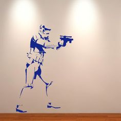Large storm trooper star wars life size wall art  big mural sticker decal US $16.99