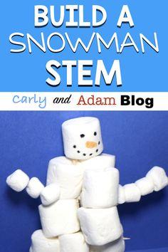 Build a Snowman STEM Activity — Carly and Adam Baue eine Schneemann-STEM-Aktivität – Carly und Adam Preschool Science, Kindergarten Activities, Classroom Activities, Preschool Ideas, Preschool Winter, Stem Science, Life Science, Teaching Ideas, Classroom Ideas
