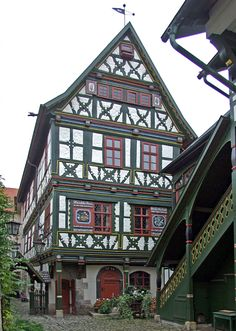 Buechnersches Hinterhaus, A Beautifully Half Timbered House Dating Back To  1596 In Meiningen, Germany