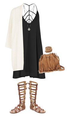 """""""Festival outfit"""" by aggelikipapkon ❤ liked on Polyvore featuring mode, Boohoo, belle by Sigerson Morrison, Vince Camuto, Rebecca Minkoff en Chan Luu"""