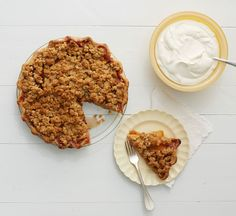 Peach Crumble Pie Recipe - Martha Bakes Pies Episode... made this last night, will have a review later today