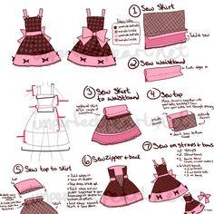 Lolita Dress Concept by *eeveesama on deviantART