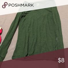 Green long sleeve shirt! Super cute! Worn only once! In good condition! Tops Tees - Long Sleeve