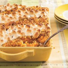 Classic Sweet Potato Casserole | This mouthwatering sweet potato casserole will satisfy lovers of crunchy pecans and cornflakes as well as marshmallows.