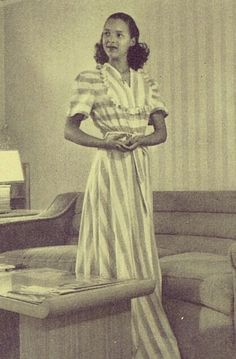 """lovely Lena Horne tribute page tagged me to this photo of Dorothy Dandridge that appeared in a 1948 issue of Ebony magazine. The caption reads: """"""""Dorothy Dandridge, petite and popular movie actress, has furnished a six-room Los Angeles home with. Dorothy Dandridge, Vintage Black Glamour, Vintage Beauty, Lena Horne, Black Actresses, Black Goddess, Popular Movies, Black Is Beautiful, Beautiful Women"""