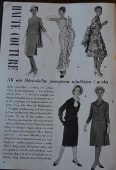 Ur Vecko Revyn 1962, med kläder från Märthaskolan och NK