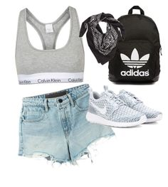 """""""Is it summer yet?"""" by filthyriot on Polyvore featuring Alexander Wang, NIKE, Topshop, adidas Originals, LULLA COLLECTION BY BINDYA, women's clothing, women's fashion, women, female and woman"""