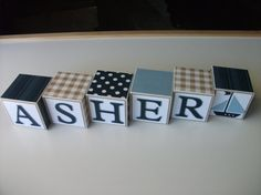 Baby Name Blocks - Wooden Name Blocks - Nautical