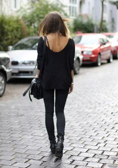 All black and back