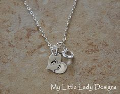 Tiny Feet Heart  Hand Stamped Sterling by MyLittleLadyDesigns, $25.00