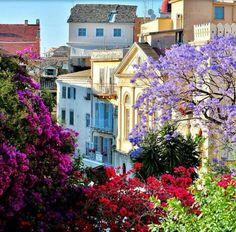 Beautiful Greece, Ionian Sea, the city of Corfu island