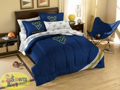 Northwest NCAA West Virginia Mountaineers 7 Piece Full Comforter Bed In A Bag