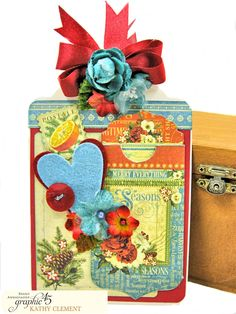 Valentine's Day may be over, but this Graphic 45 Seasons Altered Mini Crate and Tag is a project that you can easily adapt for any season or occasion. Graphic 45, Alters, Be My Valentine, Crates, Merry, Gift Wrapping, Scrapbook, Seasons, Tags