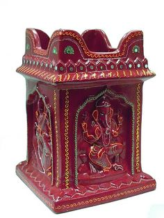 ganesha Tulasi Plant, Diy Diwali Decorations, Pooja Room Design, Diwali Diy, Indian Interiors, Puja Room, Craft Work, Ganesha, Shiva