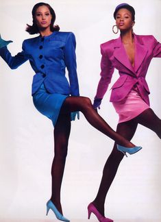 Christy Turlington & Naomi Campbell .. Vogue 1986
