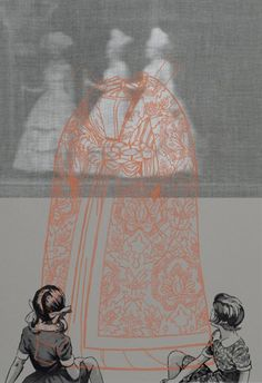minna resnick [http://minnaresnick.com; layers of textiles, photographs, & gorgeous key-line drawings]