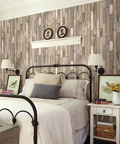 Look what I found on #zulily! Barn Board Brown Thin Plank Wallpaper #zulilyfinds