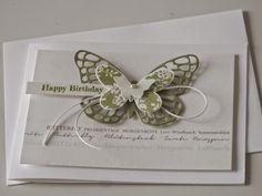 card butterfly - Karte Schmetterling - kort sommerfugl - Mia's